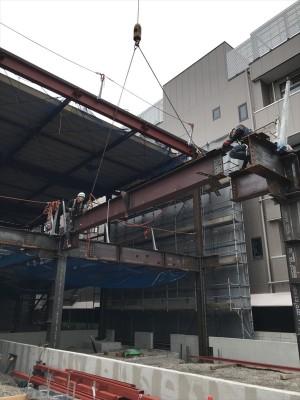 鉄骨建方・鍛冶工事・鋼製床板
